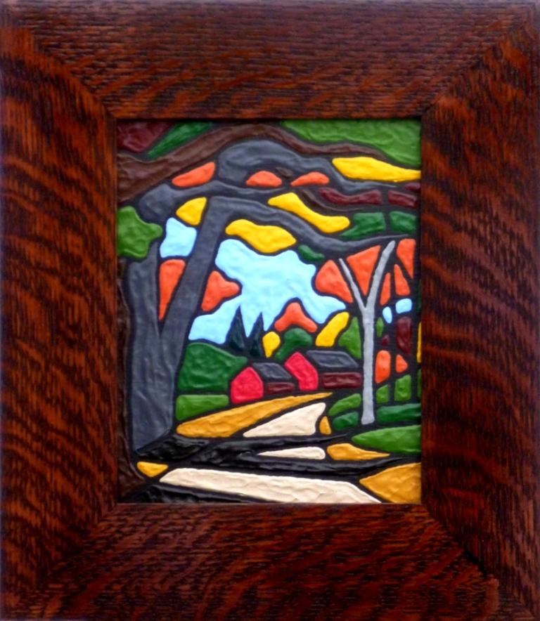 autumn in vermont framed